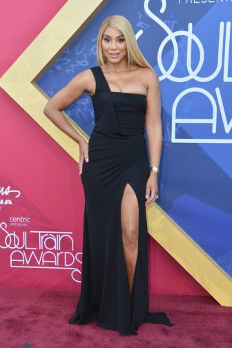 LAS VEGAS, NV - NOVEMBER 06: TV personality Tamar Braxton attends the 2016 Soul Train Music Awards at the Orleans Arena on November 6, 2016 in Las Vegas, Nevada. (Photo by Mindy Small/FilmMagic)