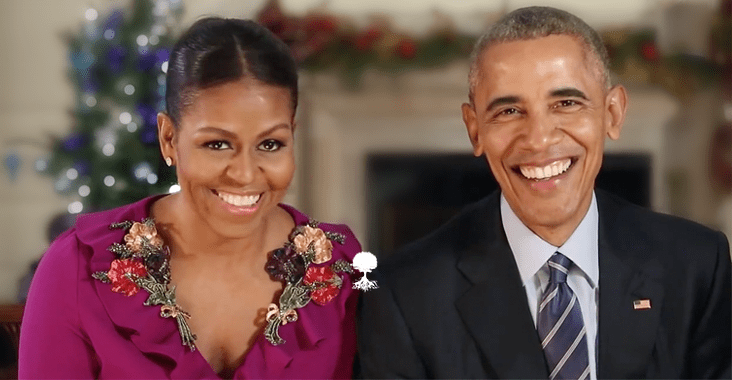 Watch Barack & Michelle Obama's Final Christmas Message Before ...