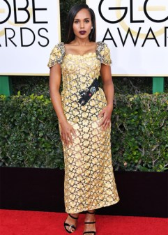 Mandatory Credit: Photo by REX/Shutterstock (7734773fx) Kerry Washington 74th Annual Golden Globe Awards, Arrivals, Los Angeles, USA - 08 Jan 2017
