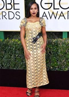 Mandatory Credit: Photo by REX/Shutterstock (7734773fx) Kerry Washington 74th Annual Golden Globe Awards, Arrivals, Los Angeles, USA - 08 Jan 2017