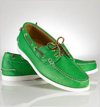 """Ralph Lauren Kelly Green """"Telford"""" Boat Shoe $269"""