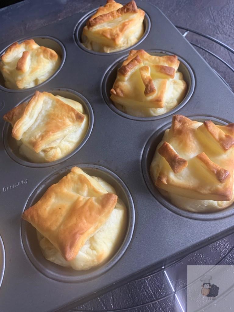 Blätterteig Pastetchen frisch aus dem Ofen