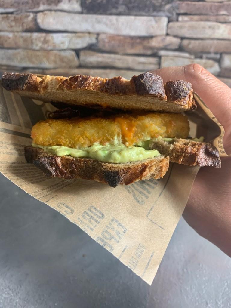 Sandwich mit Fischstäbchen