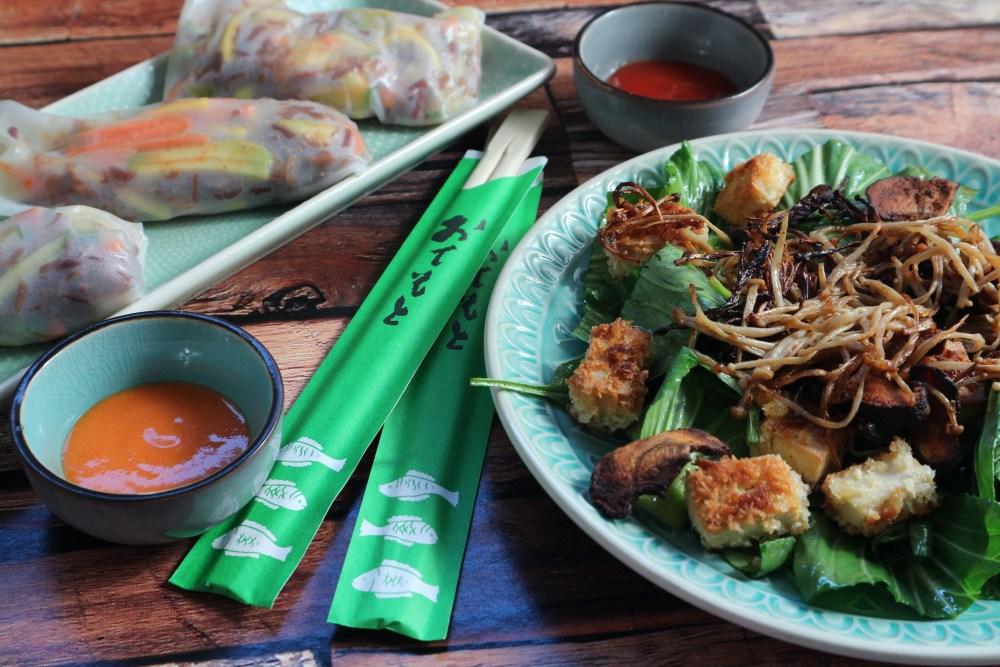 Summer Rolls mit Pak Choi Salat