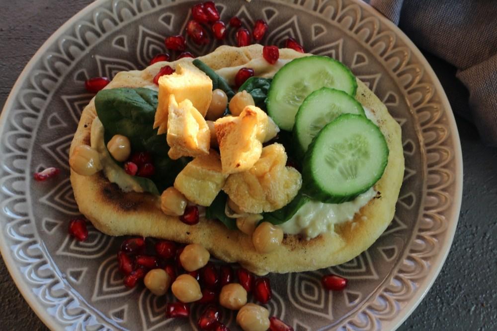Naan mit Tofu und Allerlei
