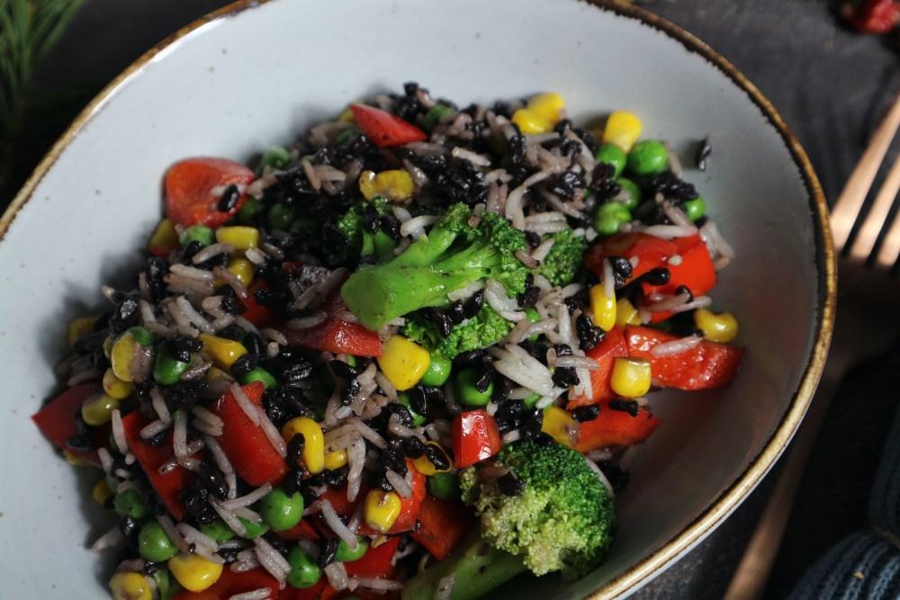 Gemüse-Reis Pfanne
