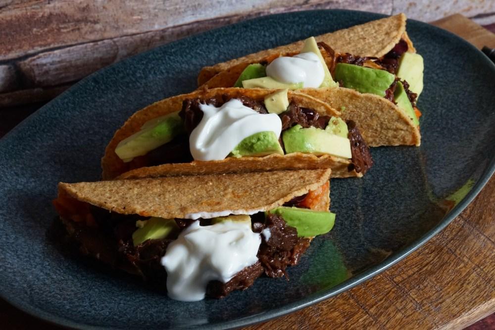 Tacos mit Paprikareis und Jackfruit