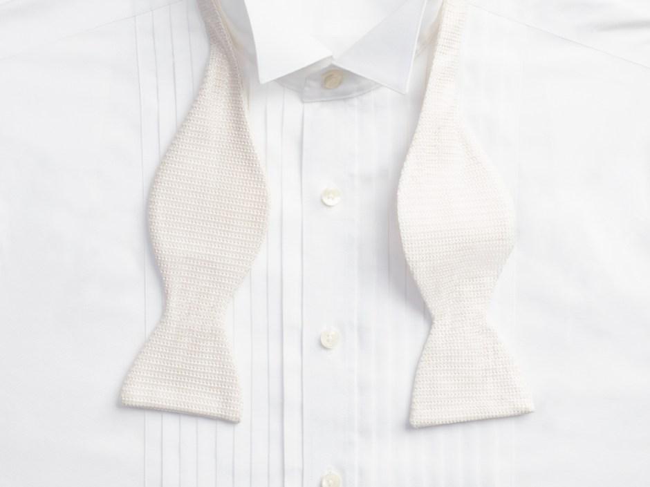 Front placket tuxedo shirt.