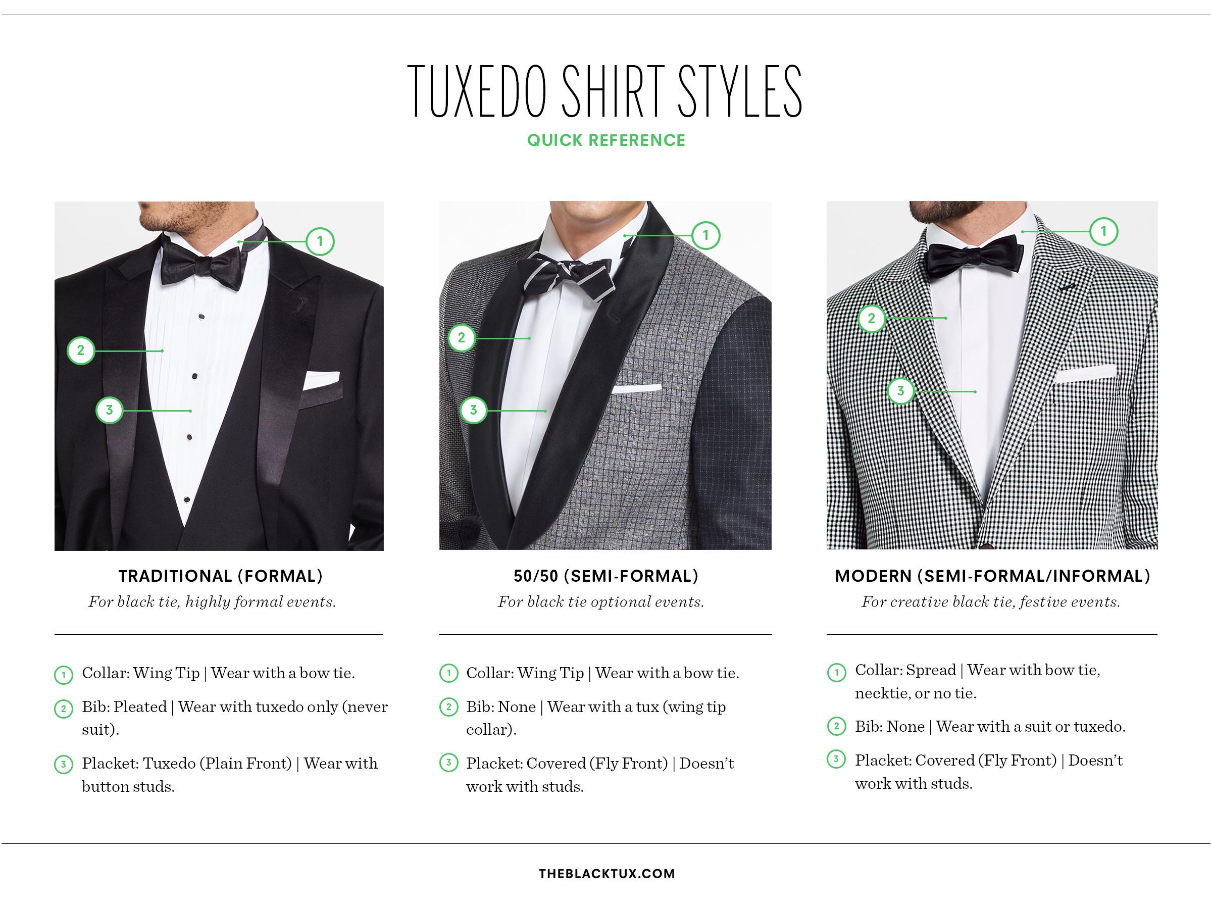 Types of Shirt Collars Dress