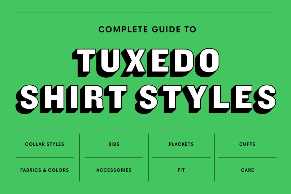 The Complete Guide to Tuxedo Shirt Styles