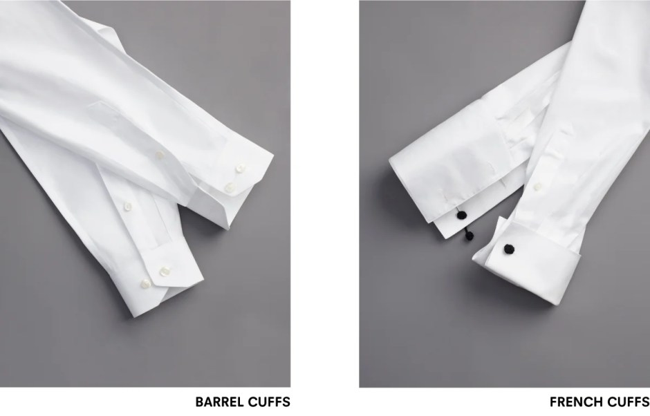 Types of tuxedo shirt cuffs