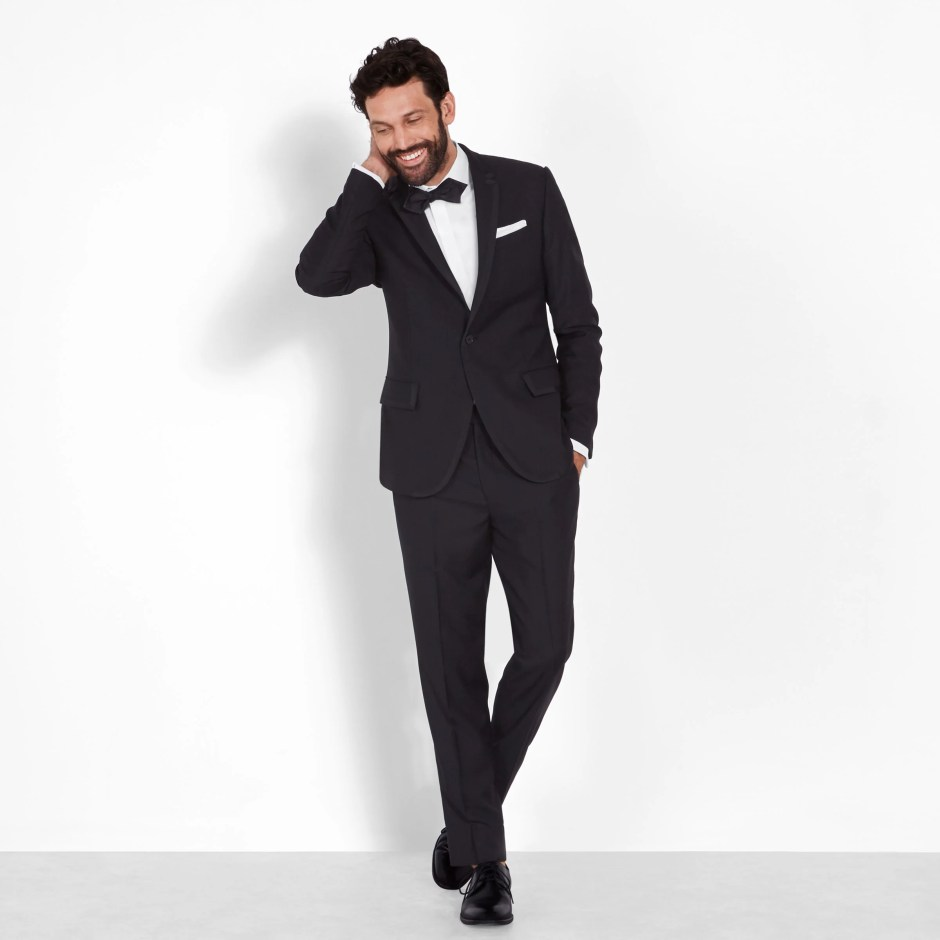 Black tie optional wedding attire for men