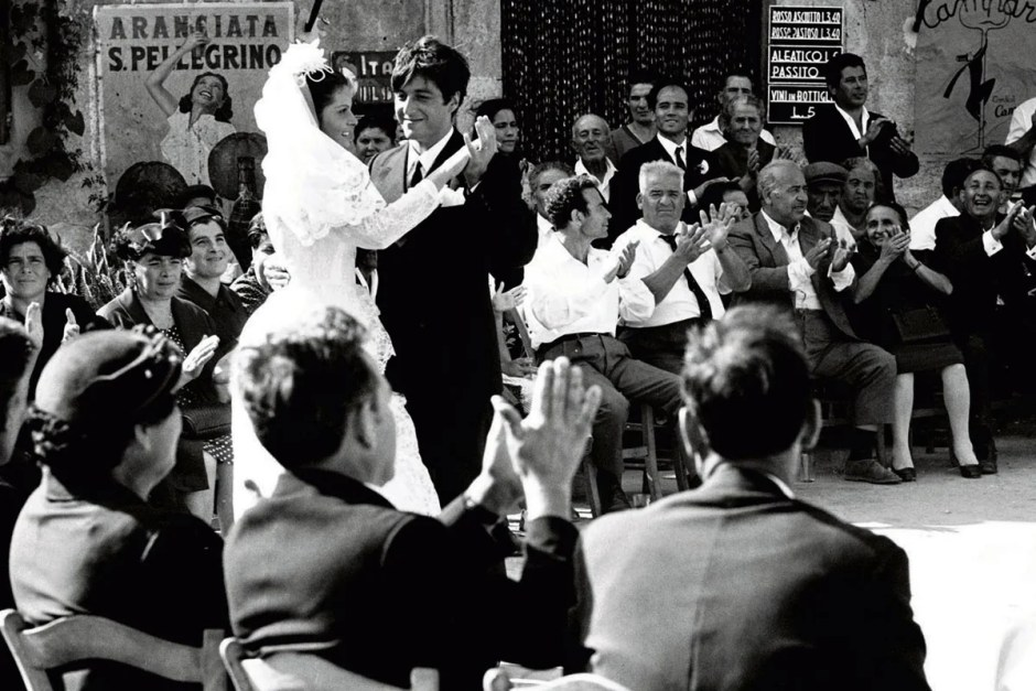 One of two movie weddings in The Godfather.