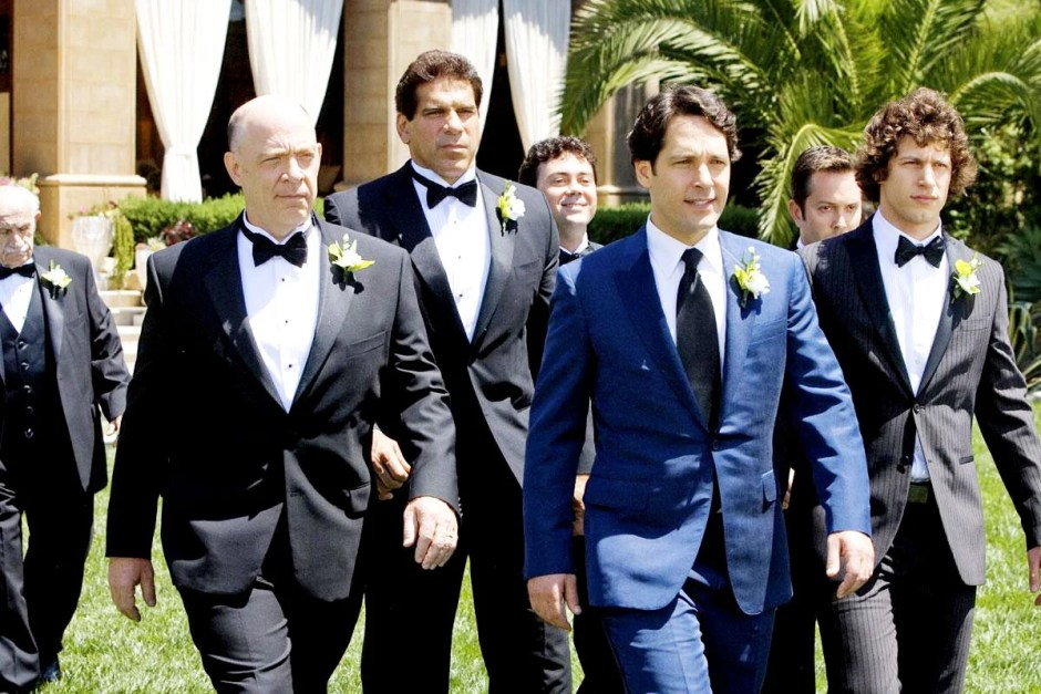 Paul Rudd leads his groomsmen to the wedding ceremony in I Love You, Man.