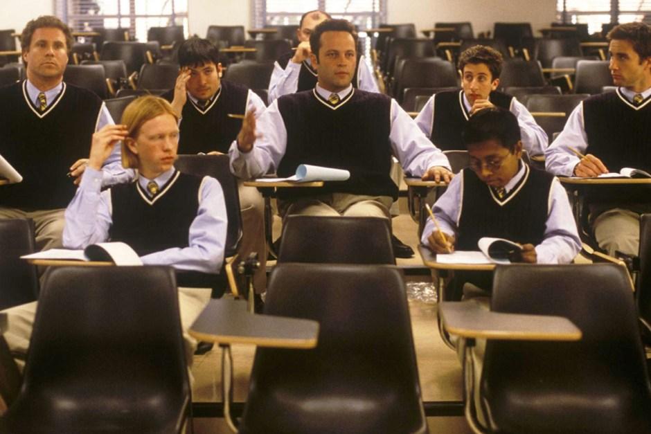 Vince Vaughn prepares for the big test in Old School.