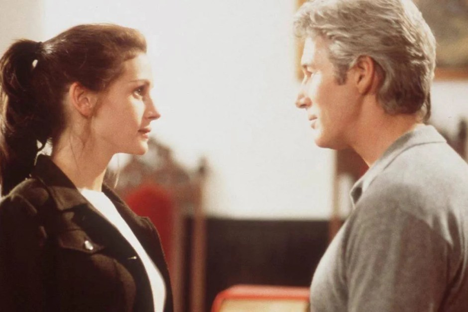 Julia Roberts and Richard Gere in Runaway Bride.