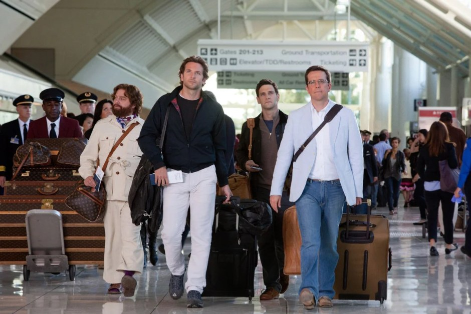 The Wolfpack walks the airport in The Hangover.