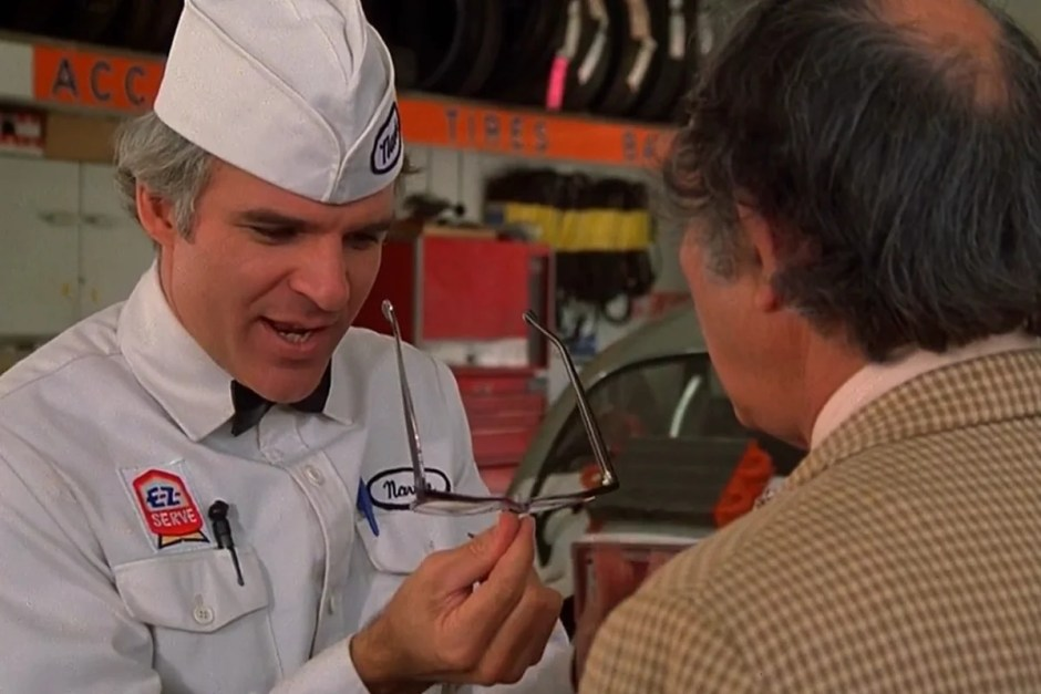 Steve Martin sees his invention in The Jerk.