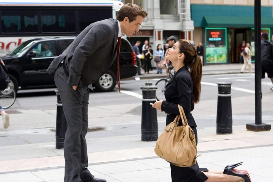 Ryan Reynolds and Sandra Bullock in The Proposal.