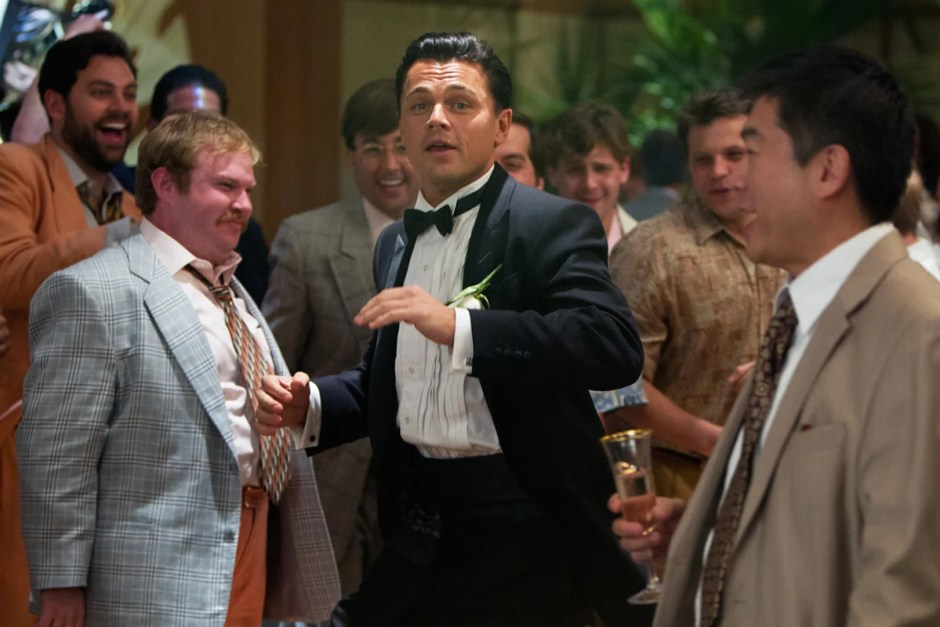 Leonardo DiCaprio in The Wolf of Wall Street movie wedding.
