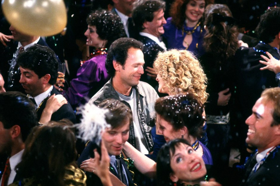 Billy Crystal and Meg Ryan finally get together on NYE in When Harry Met Sally.