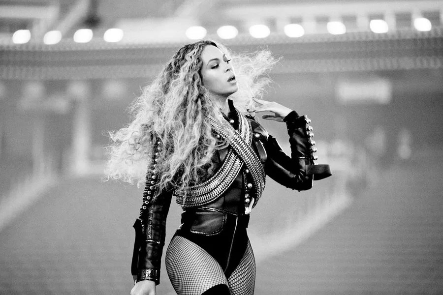 Beyonce on stage.