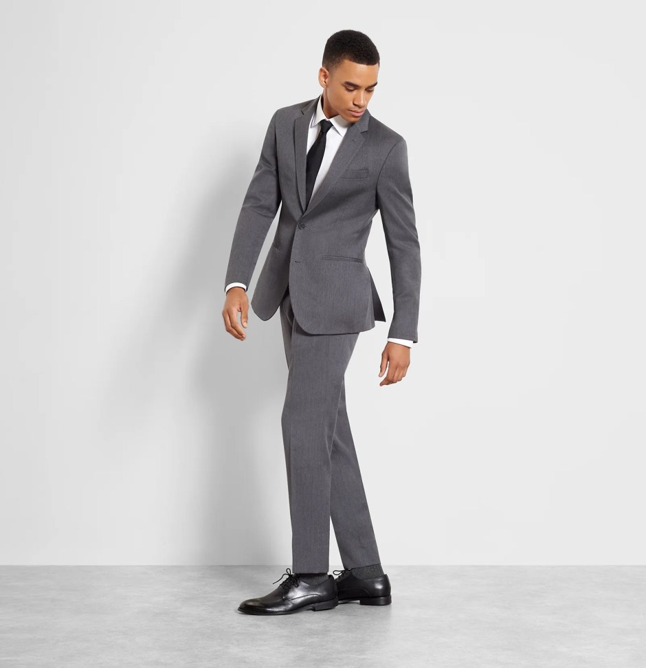 Slim fit grey suit from The Black Tux.