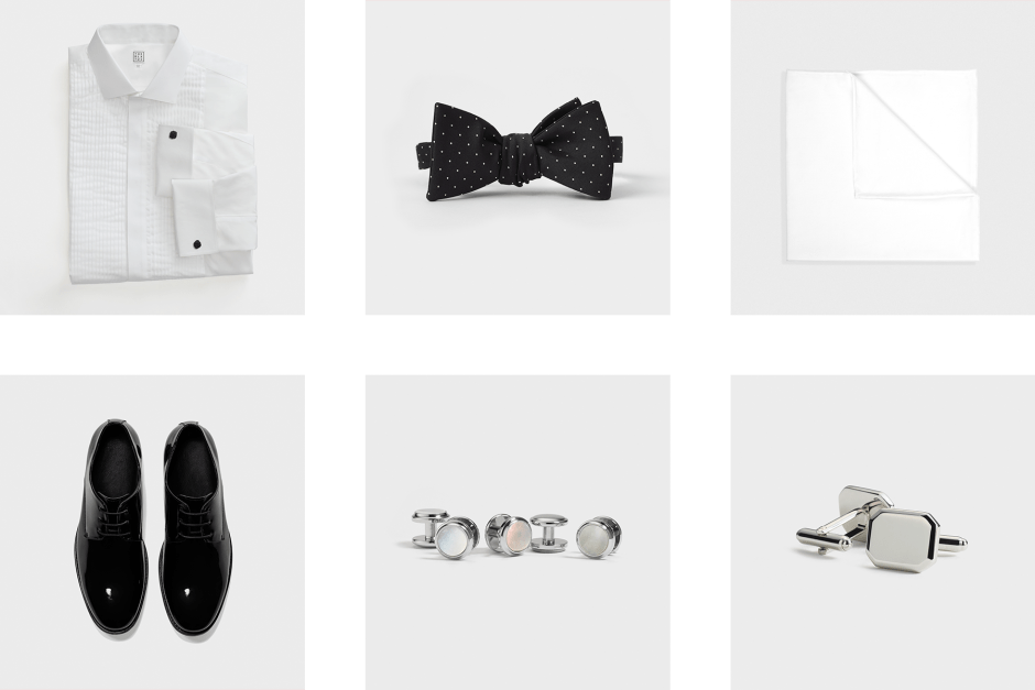 Formal groomsmen outfit accessories.