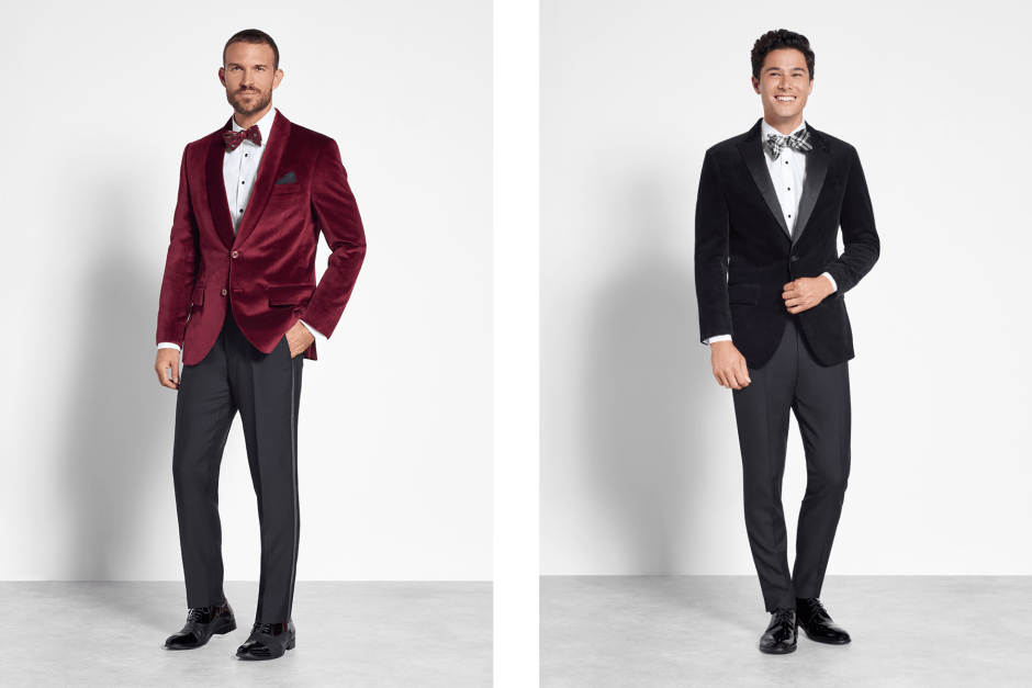 Winter wedding party tuxedos.