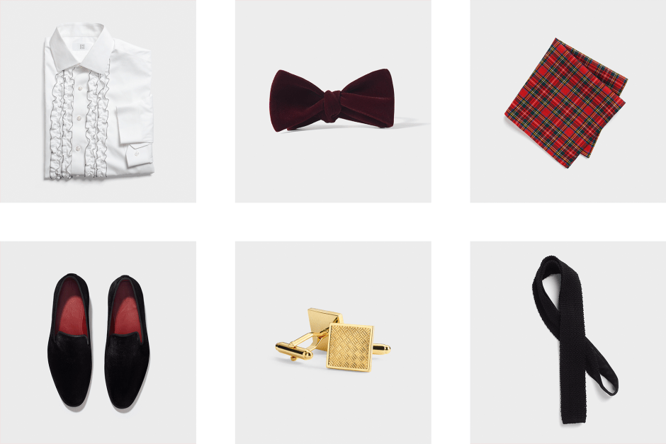 Winter groomsmen tux accessories ideas.
