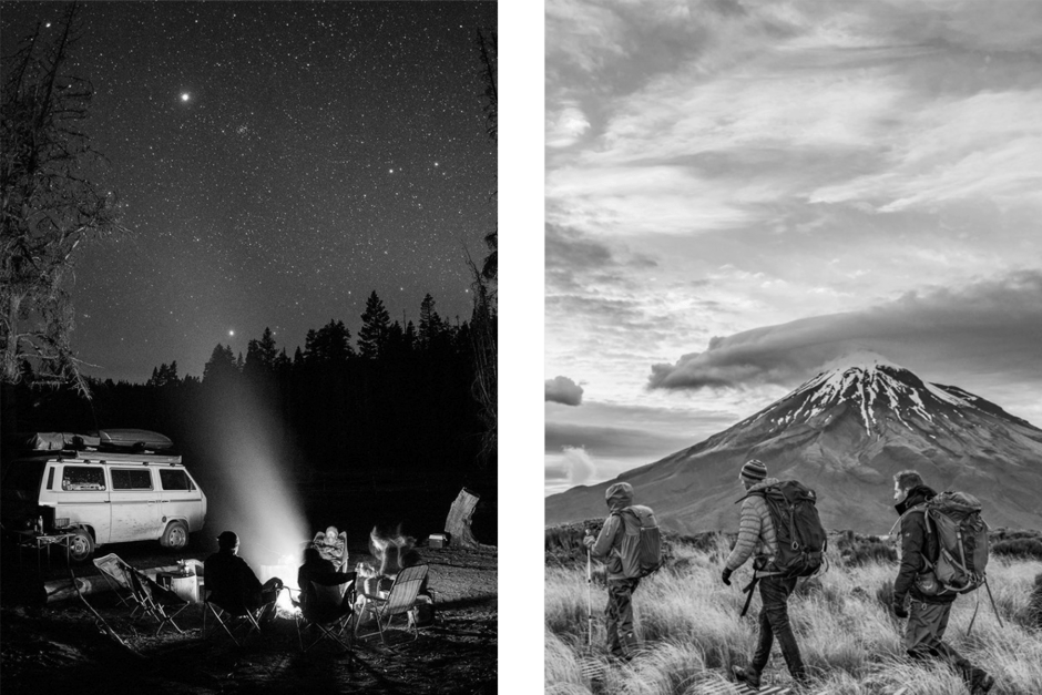 Camping and backpacking are two bachelor party ideas for adventurous groups.