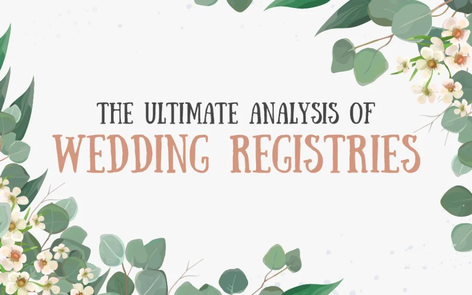 The Most Popular Wedding Registry Items in the U.S.