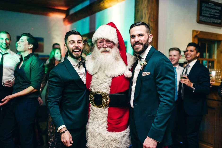 holiday same-sex wedding