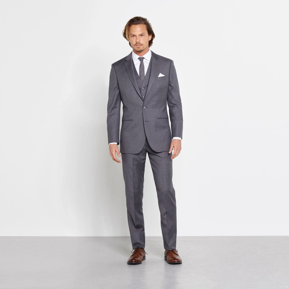 Grey Suit Wedding Attire for Men