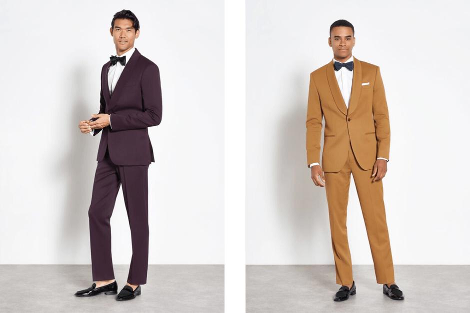 bold color festive attire suits