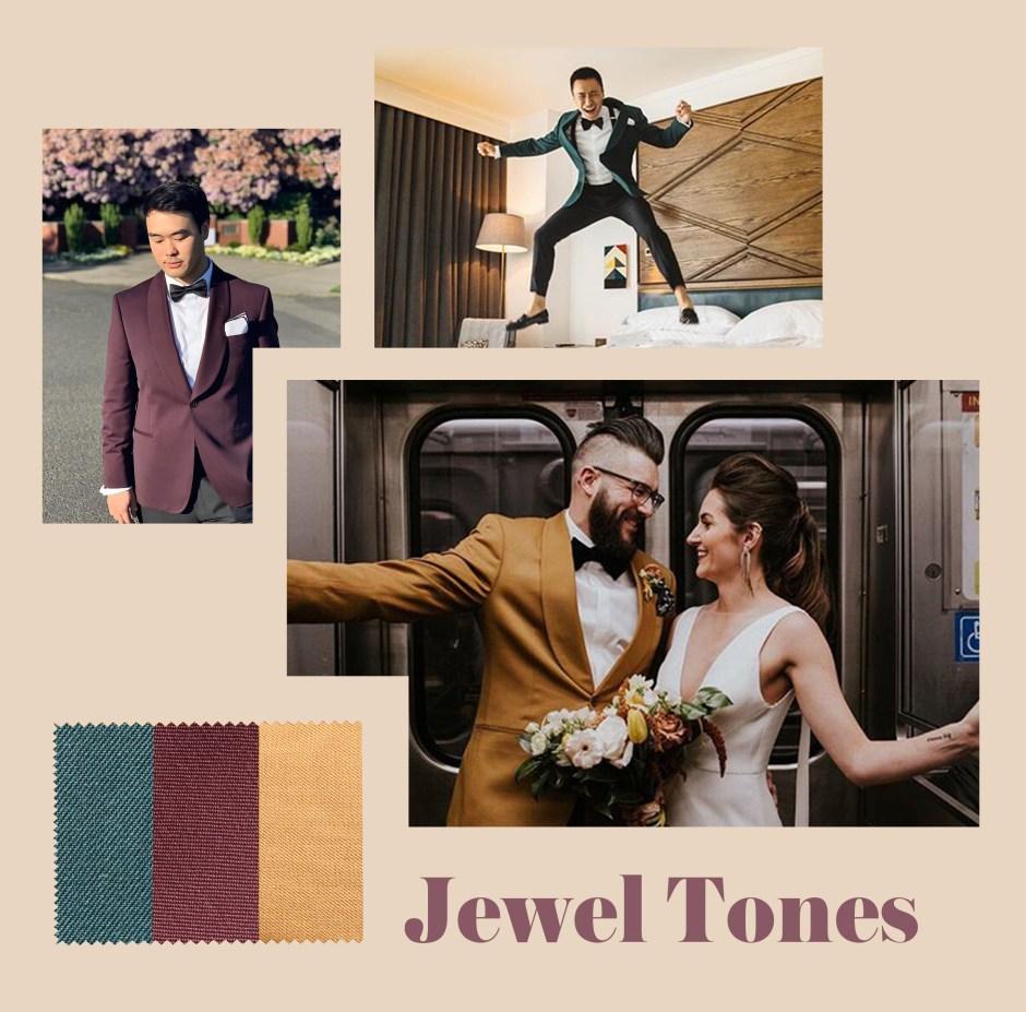 fall wedding attire jewel tones