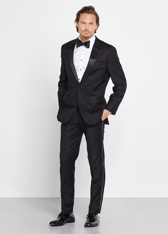 black notch lapel prom tuxedo