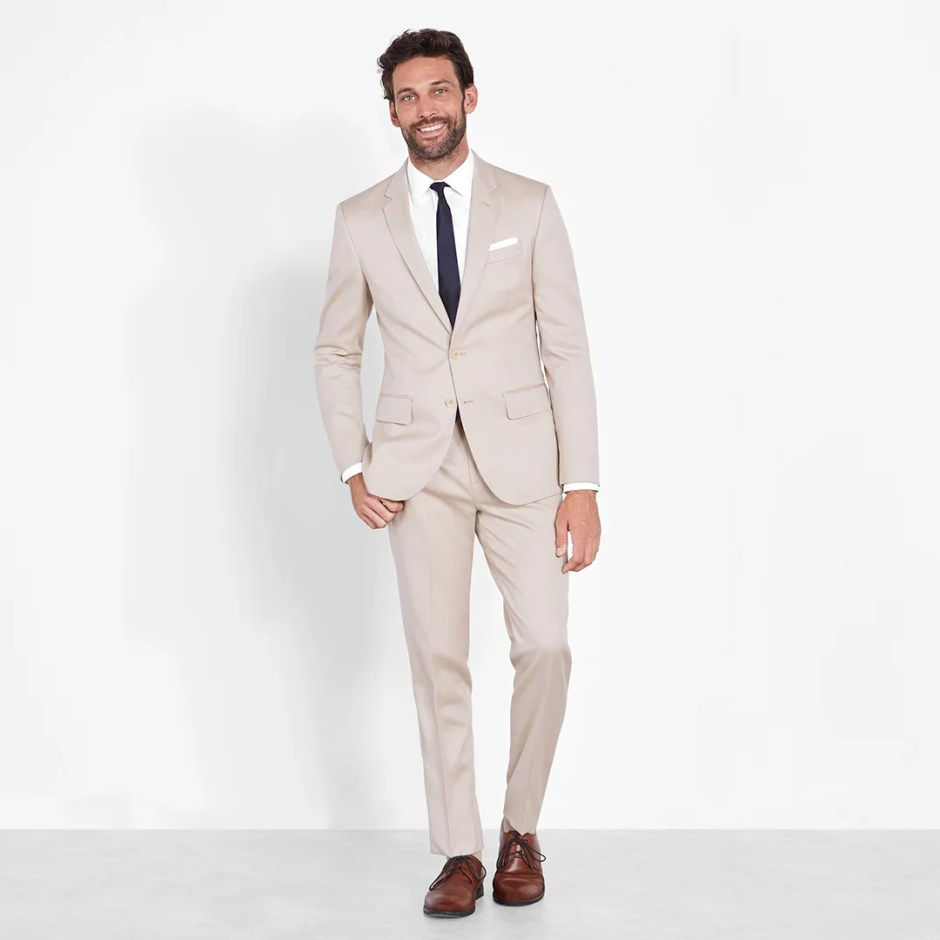 daytime suit for casual wedding attire