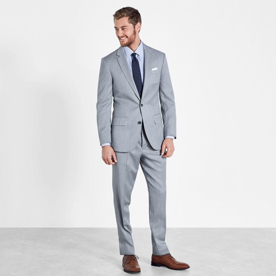 light grey groom suit