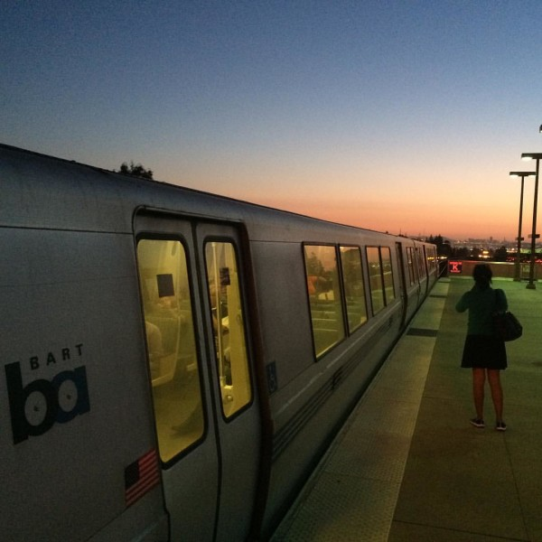 Looking back at San Francisco from the Rockridge Station in Oakland. Image by Malcolm Kenton