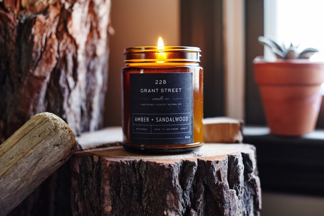 228 Candle Company Amber and Sandlewood Scent