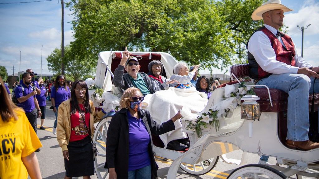Tulsa race massacre horse-drawn carriage