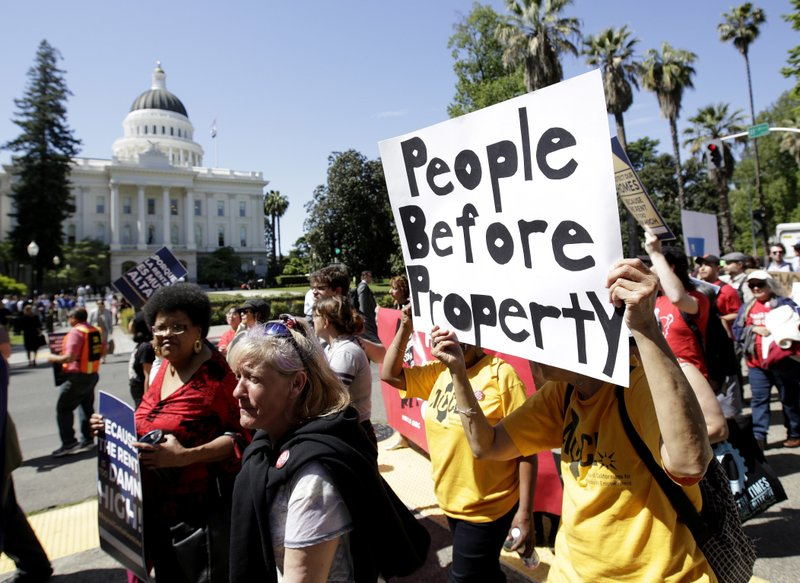 california governor eviction rent