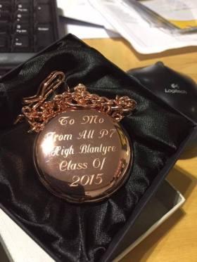 2015 Pocket watch presented to Mo Razzaq