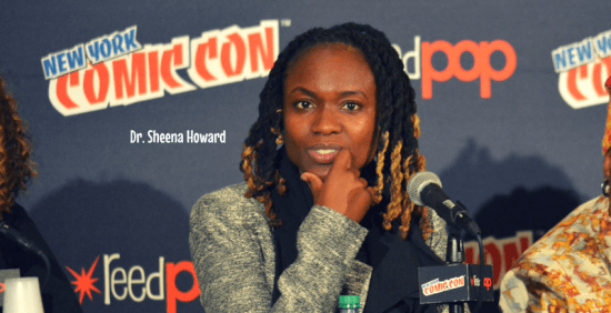 Dr. Sheena howard, nycc, Afropunks and blerds, nycc, theblerdgurl