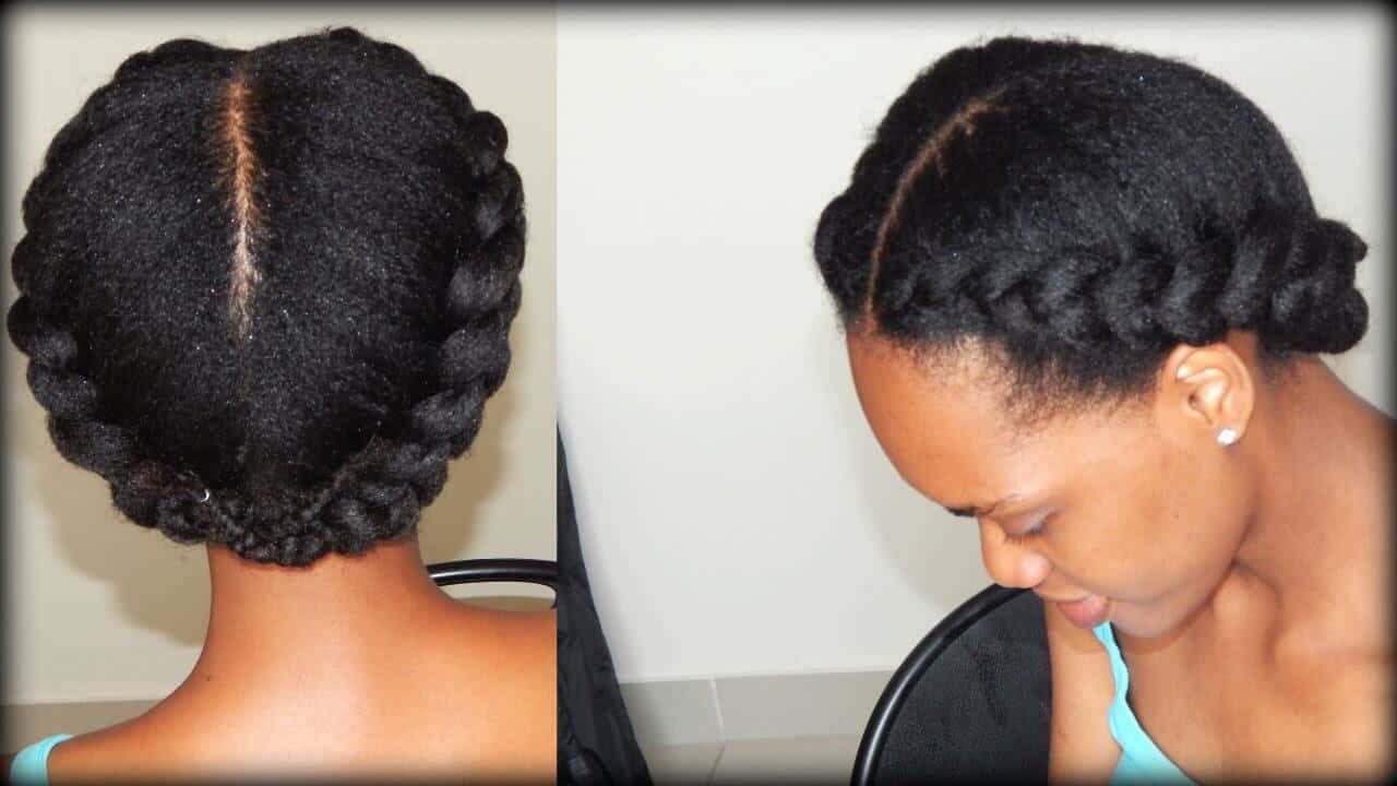 Crown Braid For Short Natural Hair Best Short Hair Styles