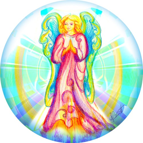 Lucky Angel by Deb Barrett, The Blessing Chair and Blessing Chair Visions