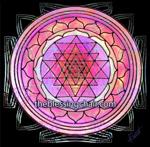 Stylized Sri Yantra by Deb Barrett