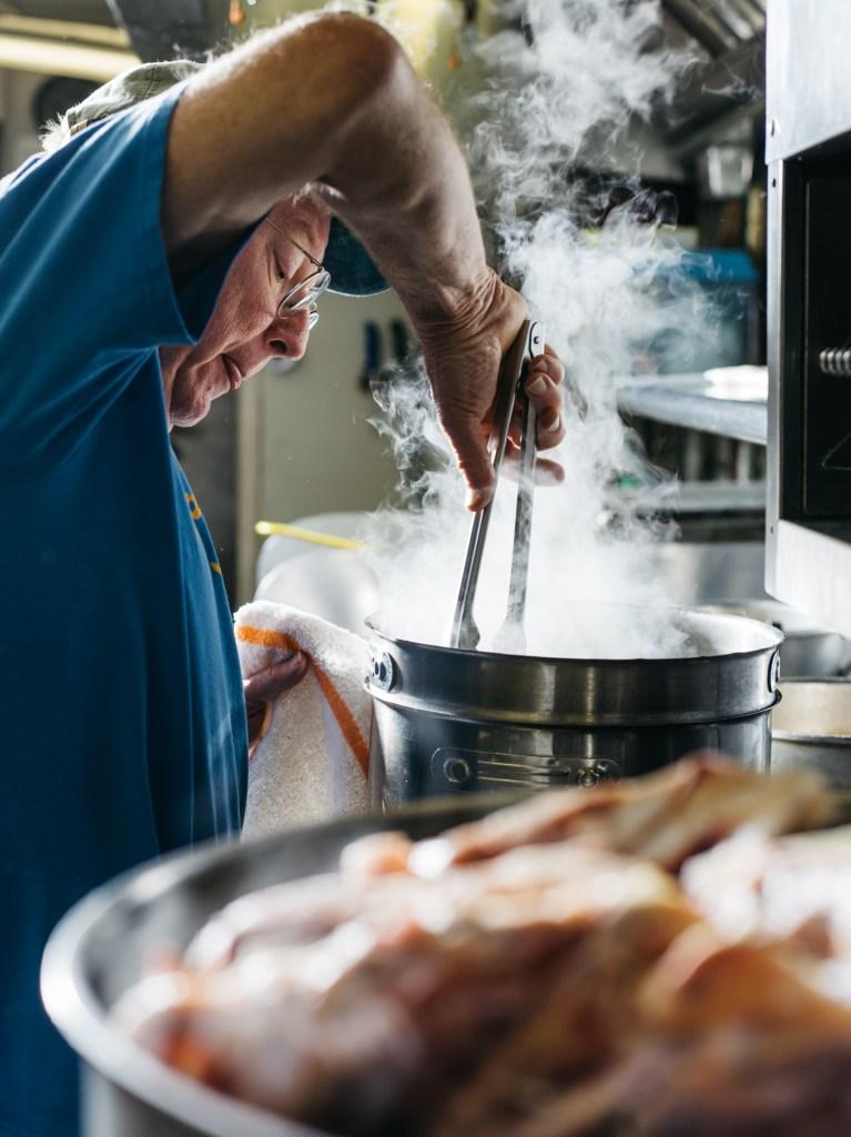 Bill Smith in the kitchen