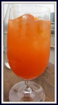 Peach and Blood Orange Spritz